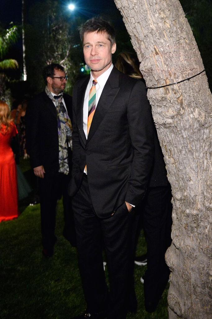 Brad Pitt aparece en público luciendo nuevo look 1
