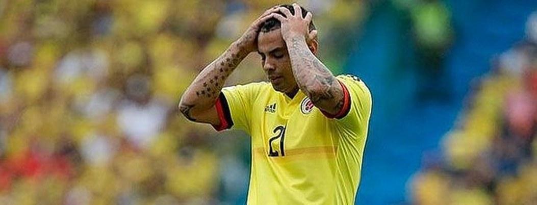 Edwin Cardona, suspendido cinco partidos con Colombia por la FIFA