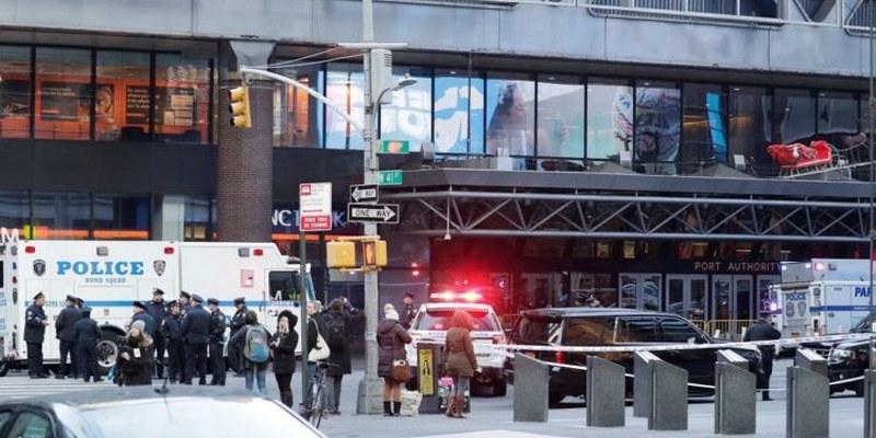 Explosión en terminal de autobuses de NY  deja 4 heridos