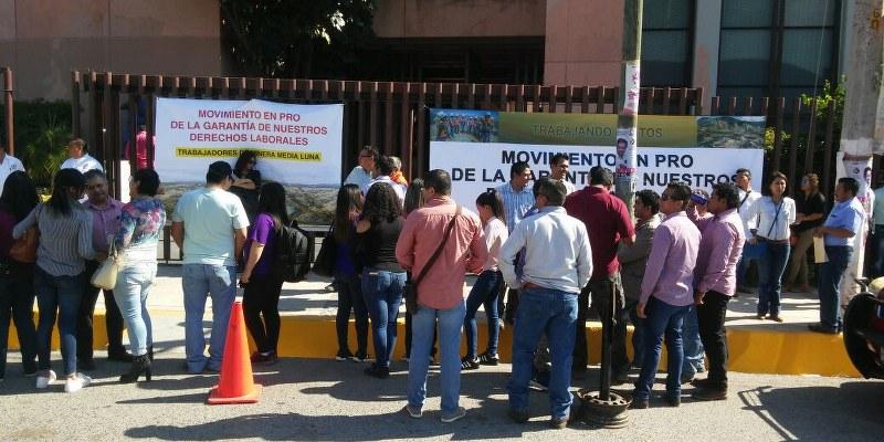 Trabajadores de Media Luna piden al Congreso solucionar conflicto laboral