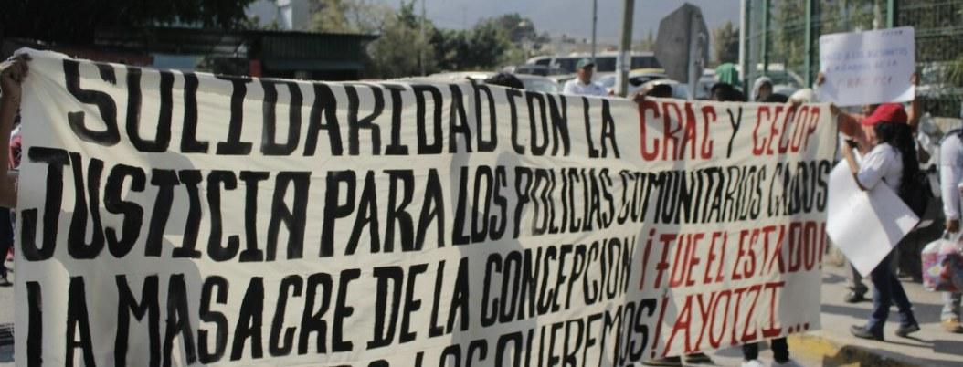 Ayotzinapa protesta en Fiscalía por detenidos en Cacahuatepec 2