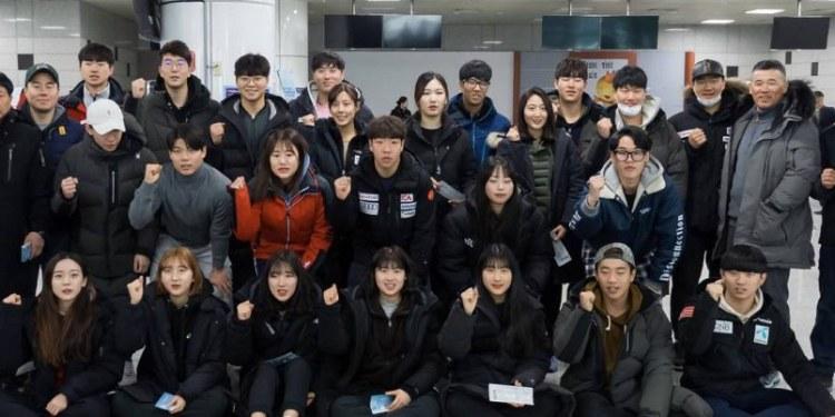 Esquiadores coreanos