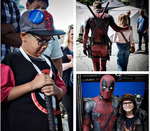 Niños vistan set de 'Deadpool 2'