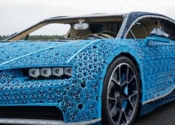 Mira el Bugatti construido con millones de piezas de lego; sí funciona 1