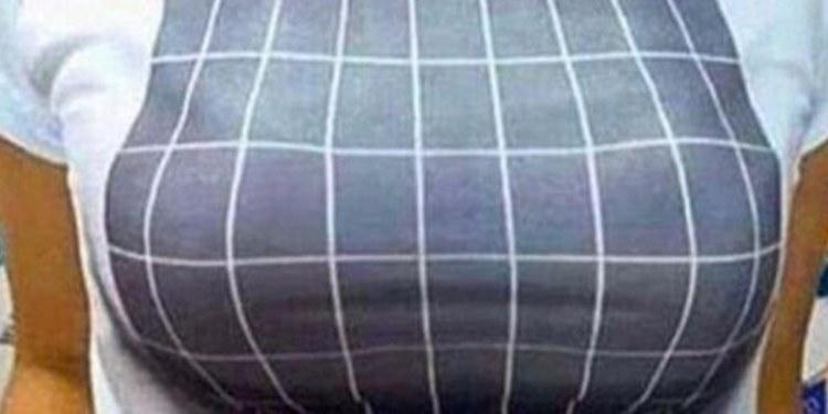 Playera de ilusión óptica 3D hará qus tus pechos se vean más grandes 1