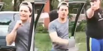 """Hombre golpea a otro mientras bailaba el reto """"My Feelings"""" 12"""