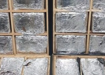 Decomisan 30 kilos de marihuana oculta en mesas de madera en AICM 5