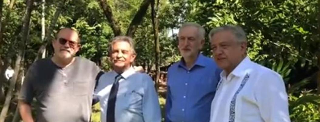AMLO apoya a Corbyn para Primer Ministro de Inglaterra