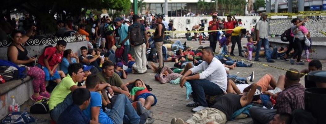 Segunda Caravana migrante ya va hacia la CDMX