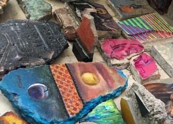 Restos de piedra de casas de Jolutla, lienzo para sanar heridas por sismo 6