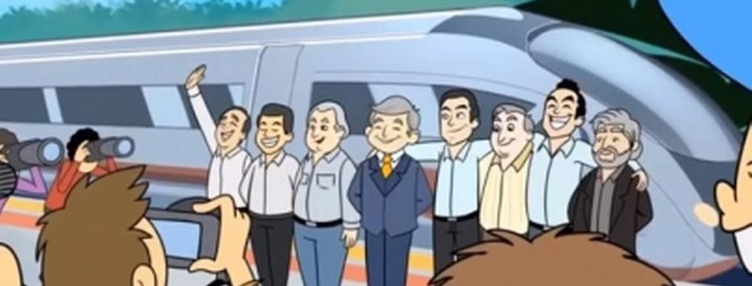 Lanzan caricatura que promociona el Tren Maya