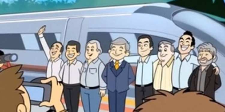 Lanzan caricatura que promociona el Tren Maya 1