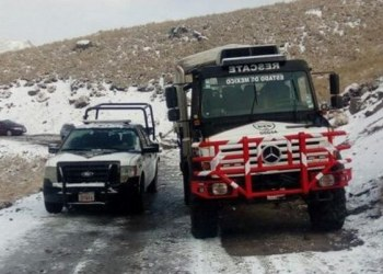 Recomendaciones de autoridades mexiquenses ante caída de nieve 2