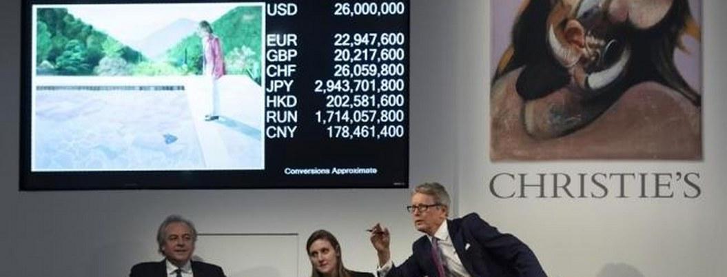 Subastan en 90 mdd cuadro de Hockney; supera récord para artista vivo