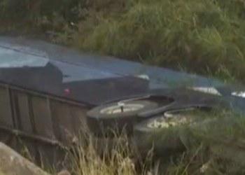 Volcadura de autobús de pasajeros dejó 6 muertos en Montemorelos 2