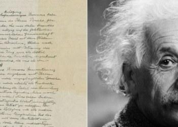 Carta de Einstein sobre existencia de Dios subastada en 2.9 mdd 1