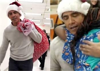 ¡Barack O´Santa! lleva regalos a niños hospitalizados 4