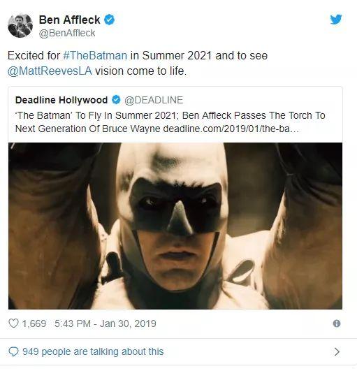 ¡Adiós a Batfleck! el actor se despide del universo DC 1