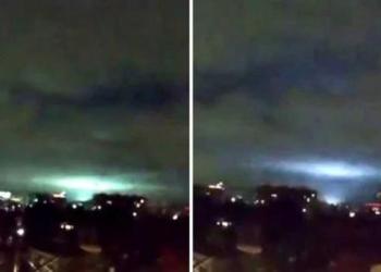 Extrañas luces en el cielo causan pánico en la CDMX | VIDEO 9