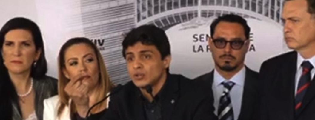 "Diputada morenista se ofusca y grita ""mentiroso"" a líder venezolano"