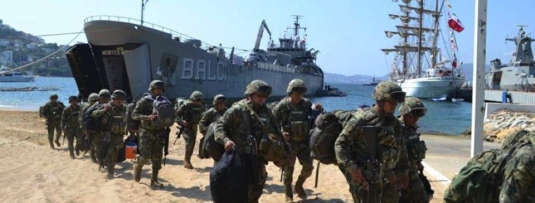Arriban a Acapulco 156 marinos para reforzar acciones de seguridad
