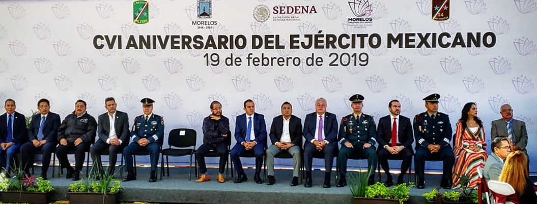 Militares se someten a investidura de AMLO en Morelos
