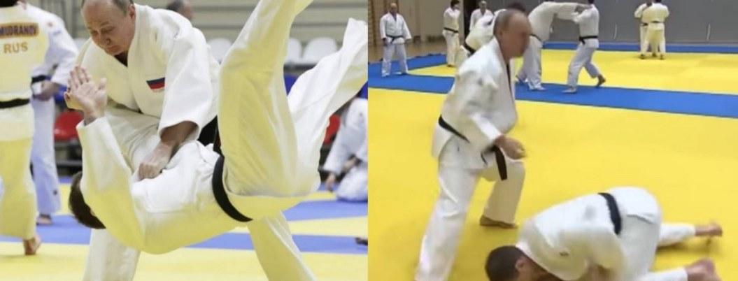 """A pesar de lesión en practica de judo Putin se hecha """"cascarita"""" de hockey"""