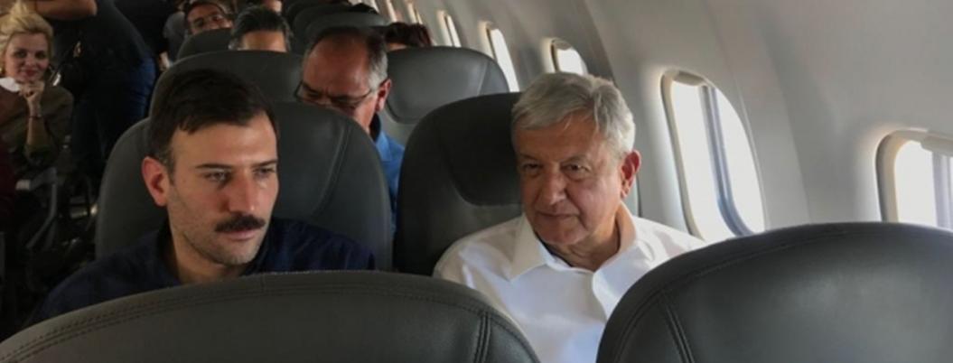 Avión en que viajaba AMLO tiene intento fallido de aterrizaje