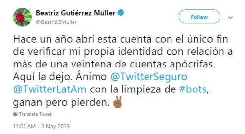 Beatriz Gutiérrez deja Twitter