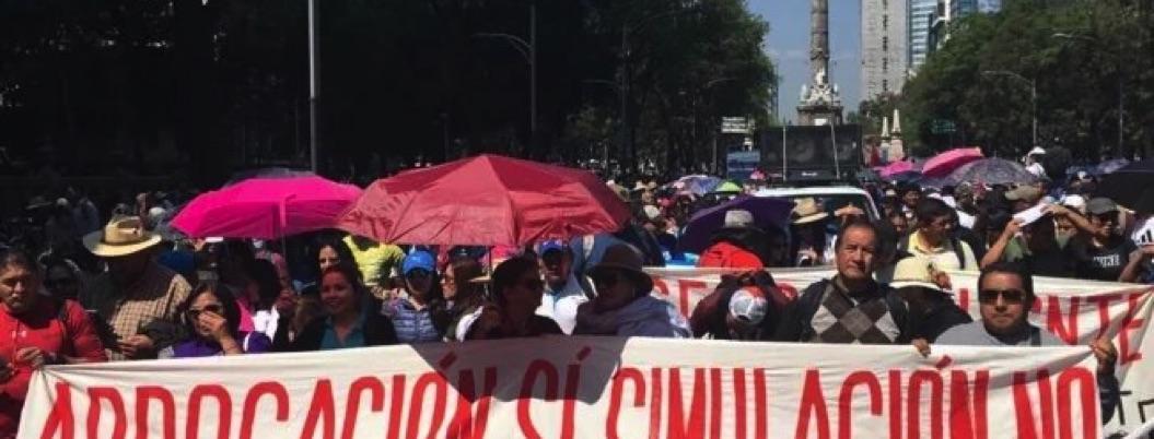 CNTE se prepara para desquiciar mañana CDMX con marcha