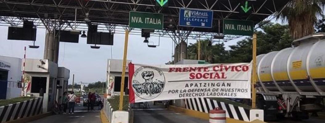 CNTE se va a paro y toma casetas en Michoacán en protesta por reforma