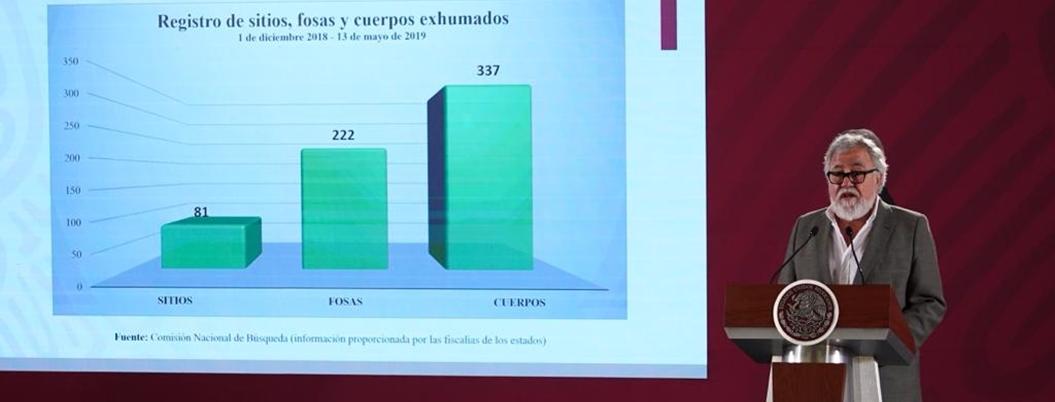 Segob exhumó 12 cuerpos de fosas clandestinas en Guerrero