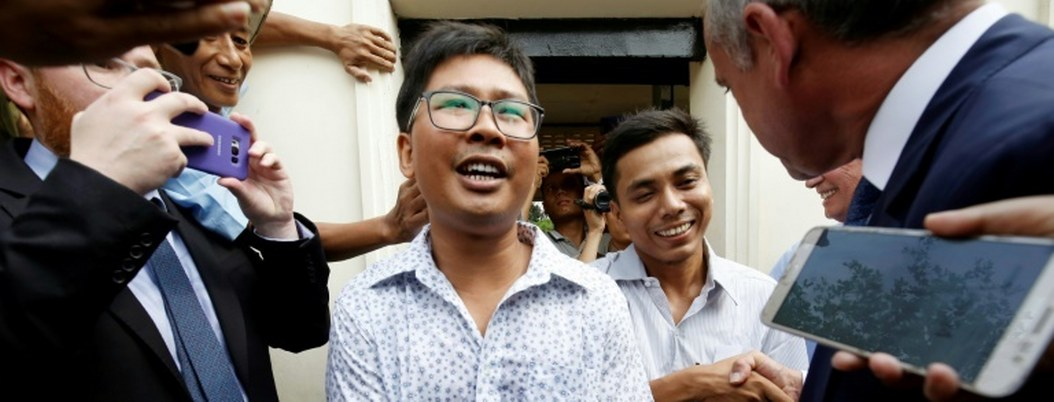 Birmania libera a 2 periodistas de Reuters en el marco de la amnistía