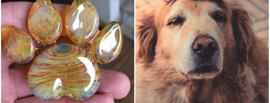 Convierten cenizas de tu mascota en hermoso recuerdo de vidrio