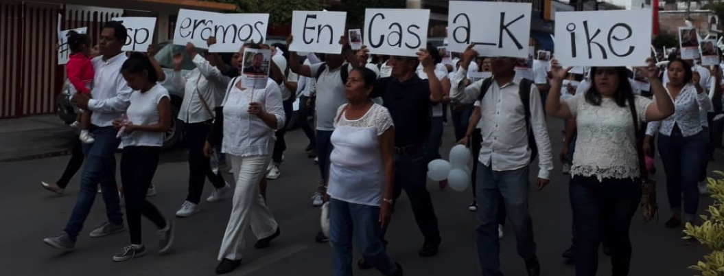 Familiares de joven desaparecido marchan en Chilpancingo