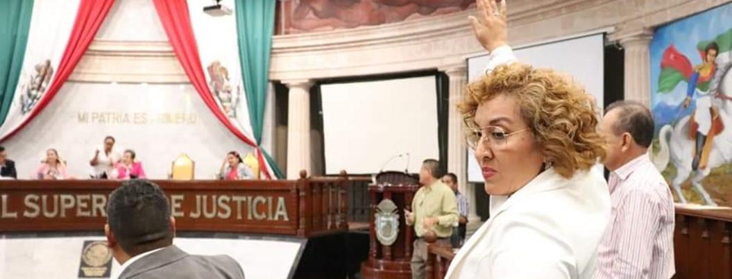 Policías estatales intimidan a diputada de Morena Nilsan Hilario