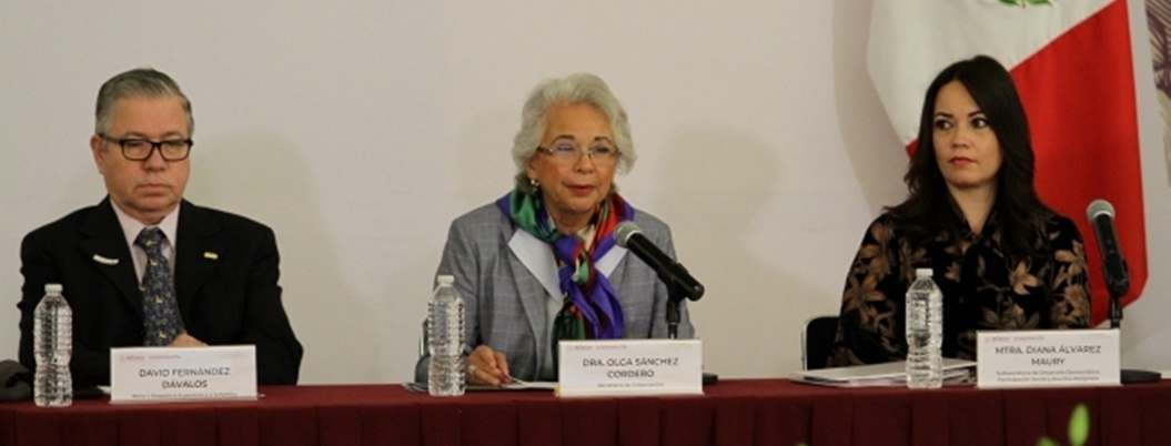 Olga Sánchez plantea nuevo pacto social a favor de los excluidos