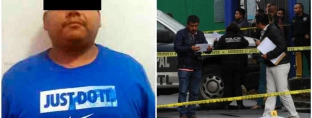 Cae asesino padre de familia y un niño afuera de escuela de Neza