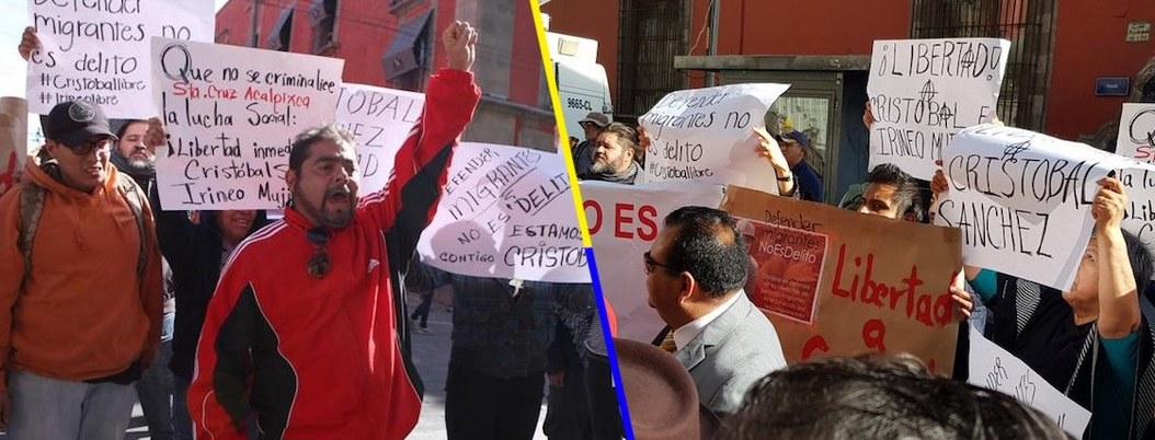 Liberan a Irineo Mujica y Cristóbal Sánchez, defensores de migrantes