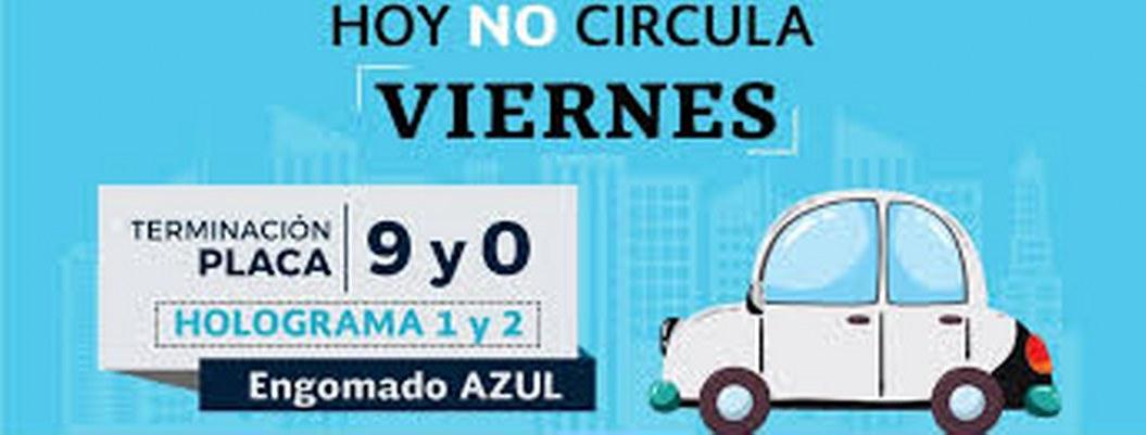Autos con engomado azul No Circulan Hoy en la CDMX y Edomex