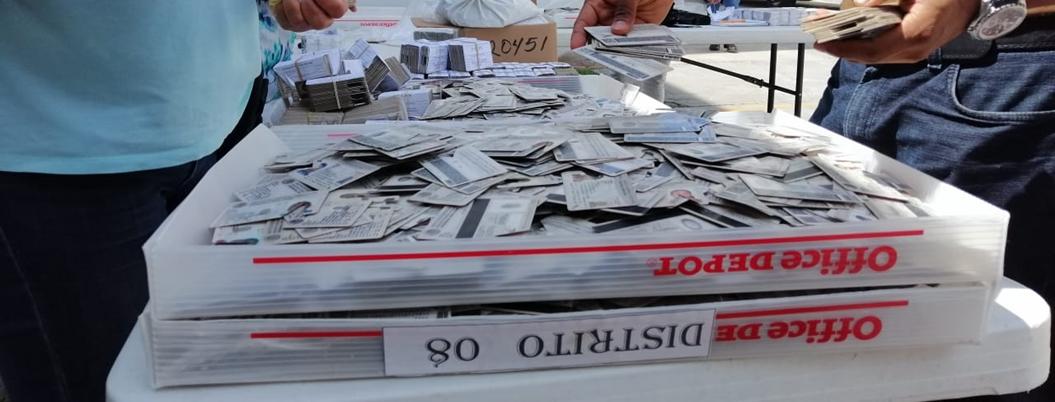 Destruyen 40 mil 942 credenciales de elector en Guerrero