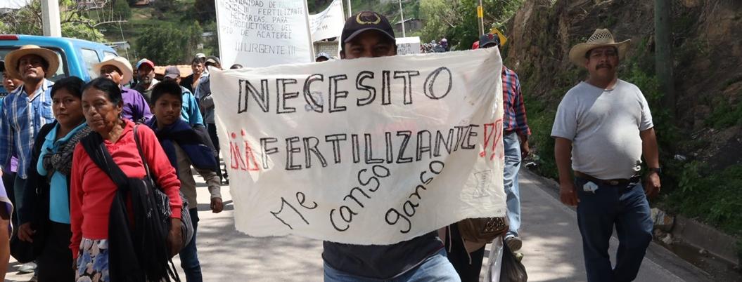 Astudillo justifica represión a campesinos que exigen fertilizante