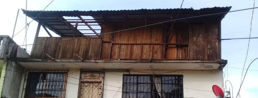 Granizada daña viviendas en El Paraíso, poblado de Atoyac de Álvarez