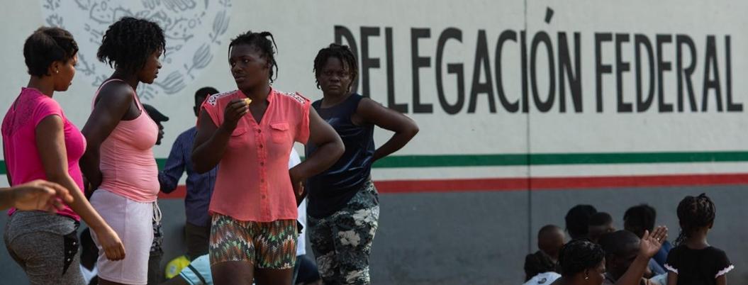 Haitianos esperan llegar a EU radicando en Tapachula