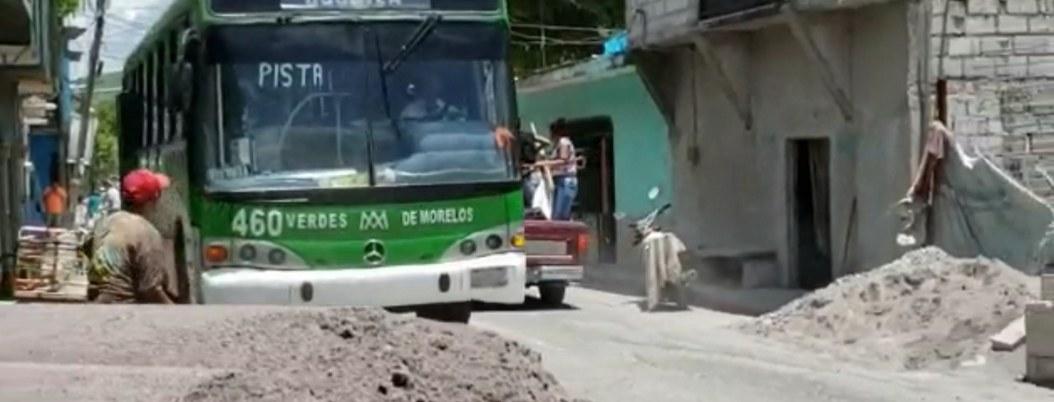 Jolutla: vehículos pesados, el nuevo riesgo para damnificados por sismo