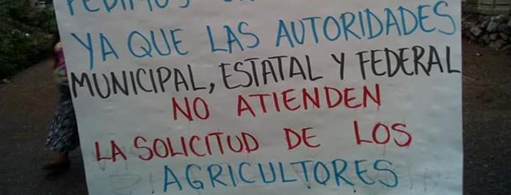 Campesinos mantienen protestas por fertilizante en Guerrero
