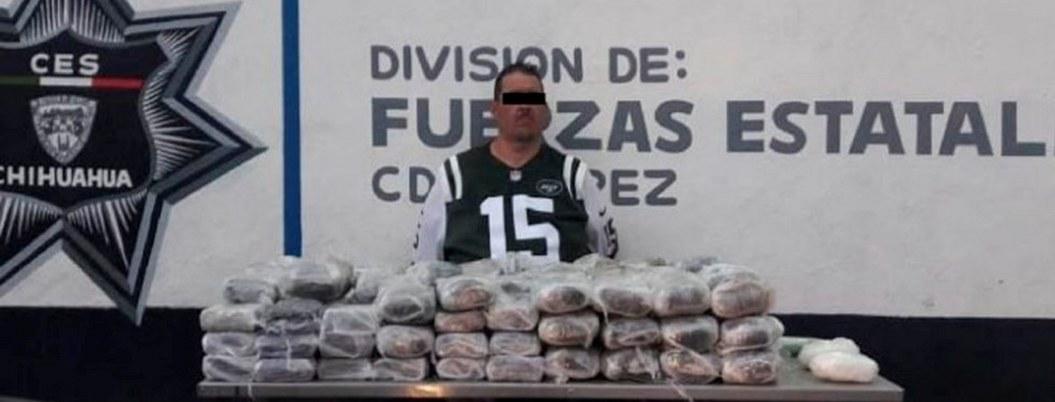 Cae integrante de 'La Línea' con más de 45 kilos de droga