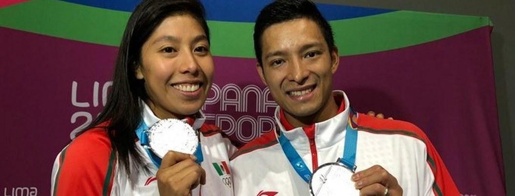Dupla mexicana gana plata en dobles mixto de squash en Lima 2019