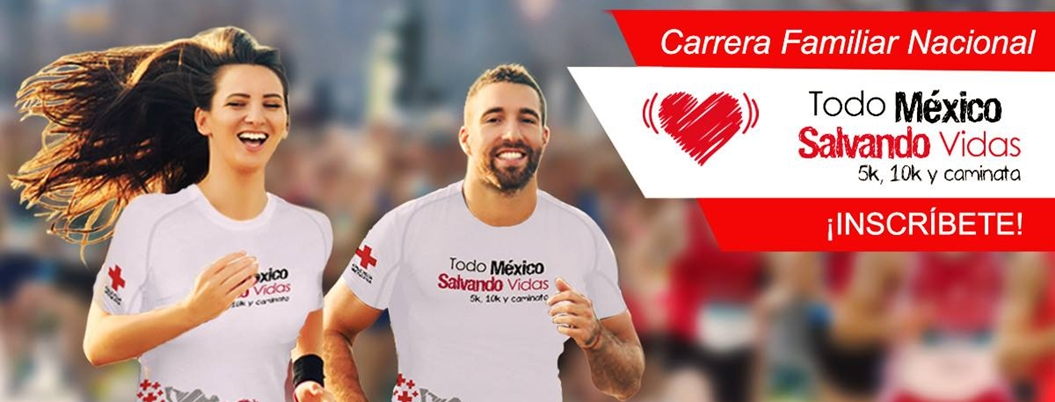 Cruz Roja organiza carrera para mejorar salud de mexicanos