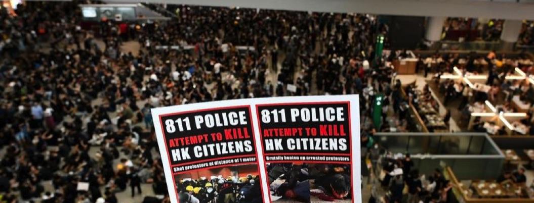 Hong Kong sumido en crisis: cancela todos sus vuelos por protestas